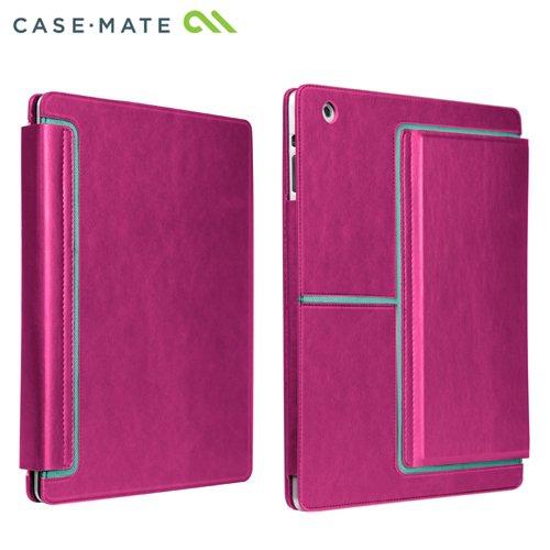 Case-Mate 日本正規品 iPad Retinaディスプレイモデル (第4世代) / iPad (第3世代) / iPad 2 対応 Venture Case, Lipstick Pink スタンド機能つき ブックタイプ レザー調ケース「Venture」 リップスティック ピンク CM020426