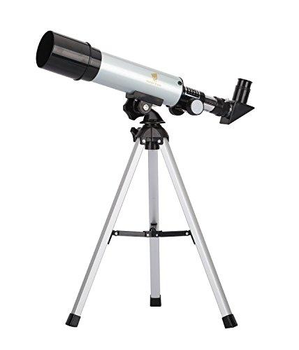 GEERTOP® 90X Télescope Réfracteur Astronomique 360 x 50 mm - Pour les Enfants Observation des Etoiles Lune Oiseaux- Trépied e Accessoires