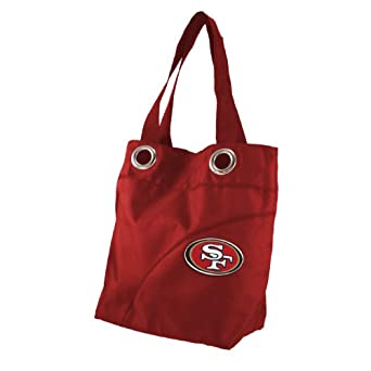 NFL San Francisco 49ers Ladies Colo Sheen Tote Purse, Red by Littlearth