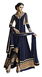 Charming Navy Blue Colored Anarkali Suit