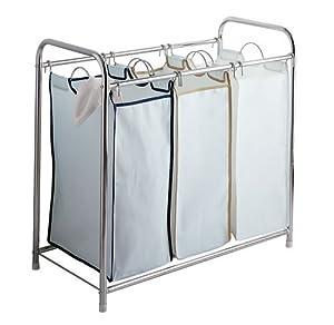 Triple Laundry Basket Sorter