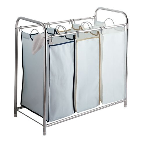 Triple Laundry Basket Sorter