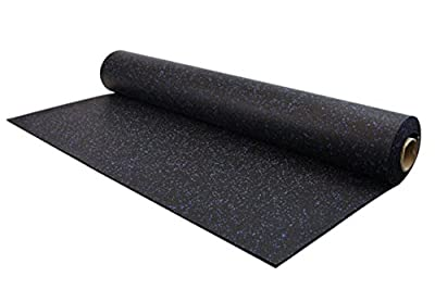 IncStores 8mm Strong Rubber Rolls 4ft x 15ft Recycled Rubber Gym Flooring Rolls