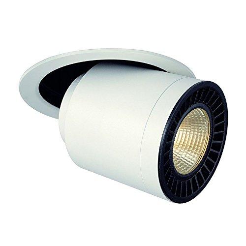 SLV Supros Move Deckeneinbauleuchte rund, 3000 lm, 3000 K SLM LED, 60 Grad Reflektor, weiß 114121