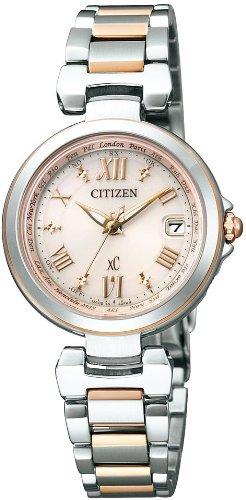 [Citizen] Citizen Watch Xc Happy Flight Eco-drive Type Display Type Needle Receiving Station Multi-radio Clock Kitagawa Keiko Ad Wearing Model Media Model Ec1034-59w Women