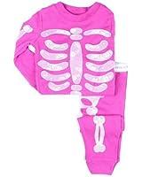 Little Wardrob Unisex-Baby Glow In The Dark Skeleton Pyjamas