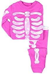 Little Wardrob Unisex-Baby Glow In The Dark Skeleton Pyjamas