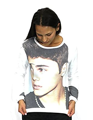 Justin Bieber Classic Long Sleeves Profile Juniors Shirt