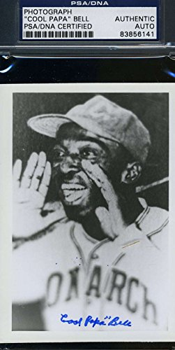 COOL PAPA BELL PSA/DNA CERTIFIED PHOTO SIGNED AUTHENTIC AUTOGRAPH (Cool Papa Bell compare prices)