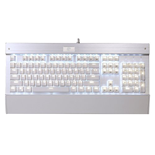 336ed9babb6 Clicky White Backlit Chroma Dimmable LED Mechanical Gaming Keyboard 104 Keys  Anti-Ghosting MX Blue