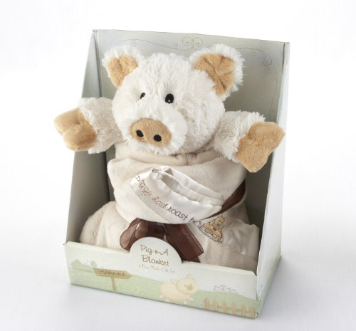 Baby Aspen Pig in a Blanket Two Piece Gift Set