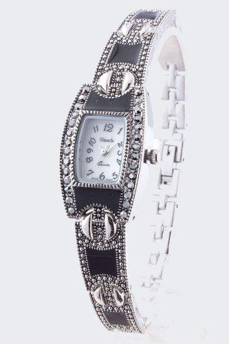 Trendy Fashion Marcasite Bracelet Watch By Fashion Destination front-1044355