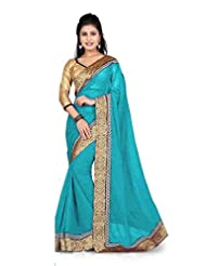 Trynget 60 Gram Georgette Saree (Tm-532 _Sky Blue)
