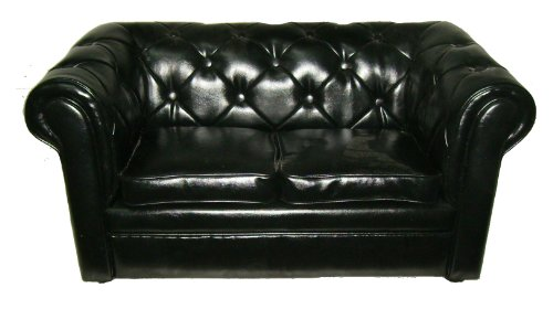 Little Chester S PVC Sofa (Black)