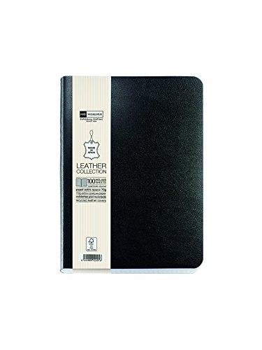 quatriemement-rm-10413-flexible-cuir-carnet-8-300-feuilles-quadrille-avec-elastique-noir