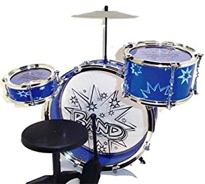 Big Band Drum Set with Chair - Music Toy Instrument for Kids (8 Pc)