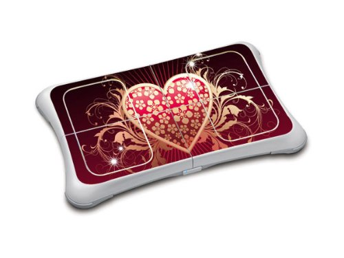Sticker Skin f&#252;r Wii Fit Balance Board (Black-Red Heart), Nintendo Wii