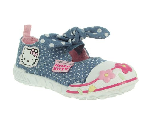 Hello Kitty Kids Nursery Girls Blue Round Toe
