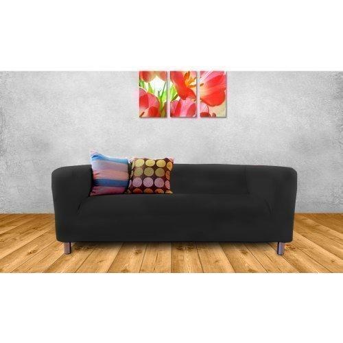 Best Deal Ikea Klippan 2 Seater Sofa Replacement Slip Cover, Black