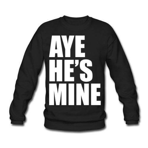 Spreadshirt, aye_hes_mine, Men's Sweatshirt, black, XL
