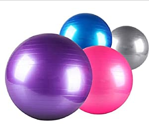 Oursmile Professional Strength Swiss Ball for Office, Exercise, Stability and Fitness, 55cm, 65cm, 75cm,Size Fitness Balls Available.