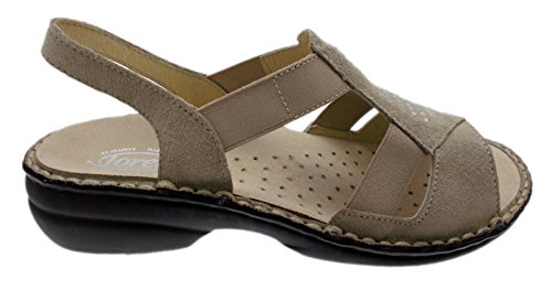 sandalo art M2592 elastico sabbia beige extra large ortopedico (Donna IT 41)