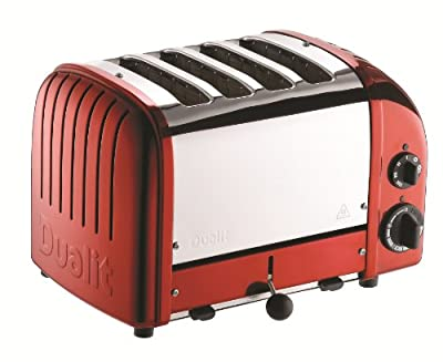 Dualit 4 Slice Classic Toaster, Apple Candy Red by Dunlop