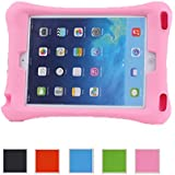 NEWSTYLE Shock Proof Case Light Weight Kids Super Protection Cover with Audio Amplifier Design for Apple iPad Air / iPad 5 - Pink Color