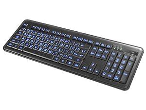 Impecca KBL200 Slim Illuminated Keyboard - Large Font