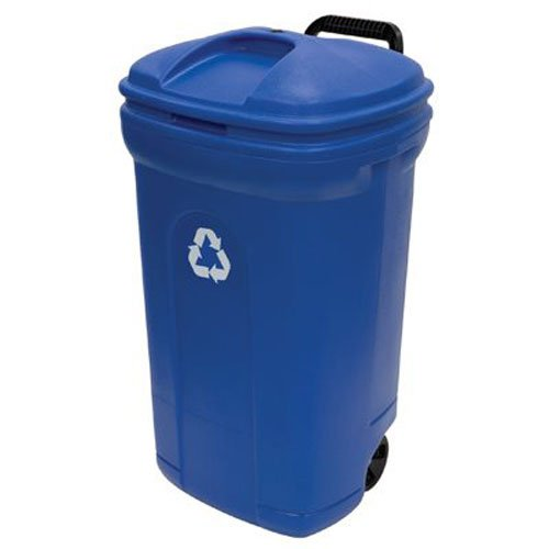 UNITED SOLUTIONS TB0056 34 gallon Blow Molded Recycling Trash Can (Blue Recycling Trash Can compare prices)