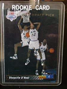 1992-93 Upper Deck Shaquille O'Neal Rookie Basketball Card #1 - Shipped In Protective Display Case!