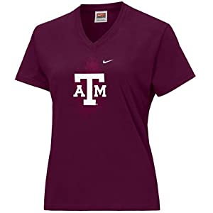 Nike Texas A&M Aggies Maroon Ladies Double Logo T-shirt by Nike