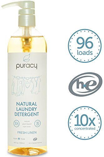 Puracy Natural Liquid Laundry Detergent – Sulfate-Free – THE BEST High Efficiency Soap – Fresh Linen – 10x Concentrated, 24 fl. oz.