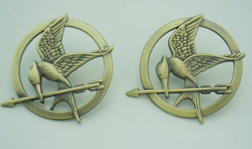 1 Pcs the Hunger Games Movie Ancient Bronze Mockingjay
