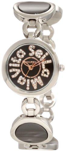 Haurex Italy Seila Mia Vita Black Dial Ceramic Watch #XA349DNH - Reloj de mujer de cuarzo, correa de acero inoxidable color plata
