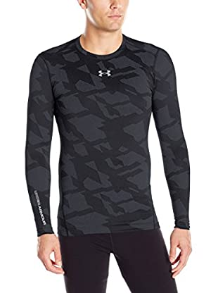 Under Armour Camiseta Manga Larga Ua Cg Armour Jacquard Crew (Negro)