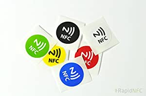 RapidNFC NFC Tags Six Pack Stickers - Six Colours