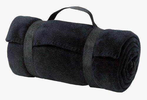 Port & Company Fleece Value Stadium Blanket with Strap, Black