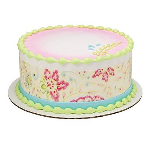 Countryside Flowers Birthday - Cake Side Designer Strip - Edible Cake/Cupcake Topper!!! (Country Corn Flower compare prices)