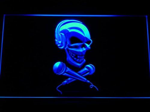 Adv Pro M077-B Skull Headphone Microphone Neon Light Sign