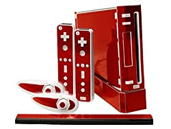 Nintendo Wii Skin New Rockin Red System Skins Faceplate Decal Mod