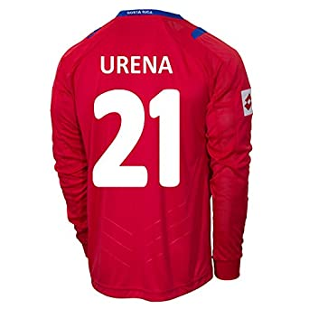 Buy Lotto URENA #21 Costa Rica Home Jersey World Cup 2014 (Long Sleeve) by Lotto