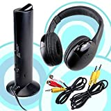 5 IN 1 WIRELESS CORDLESS HEADPHONES HEADSET MICROPHONE