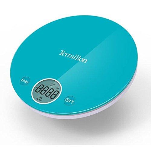 Terraillon - 12662 - Balance de cuisine electronique compact 4kg - 1g bleue Halo
