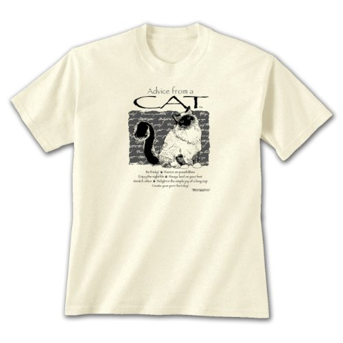 Advice From A Cat ~ Natural T-Shirt
