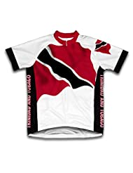 Trinidad And Tobago Flag Short Sleeve Cycling Jersey for Women