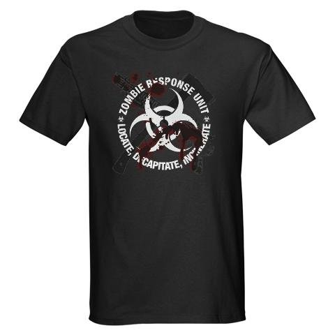 Zombie Response Unit Humor Dark T-Shirt by CafePress