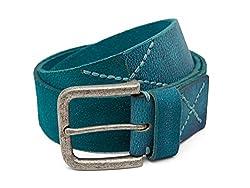 Breakbounce Men's Leather Belt (8907066079891_Large_Turquoise)