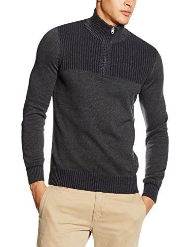 tom-tailor-pullover-plated-with-rib-512-maglione-uomo-grau-black-grey-melange-2572-xl