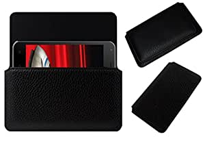 Acm Horizontal Leather Case For Celkon Millennia 2Gb Xpress Mobile Cover Carry Pouch Holder Black